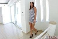 Анальный секс с длинноногой девушкой и сперма в жопе