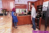 Ебля с грудастой молоденькой мусульманкой