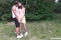 Секс русской пары на природе