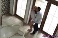 Мужик трахает свою любовницу в анал