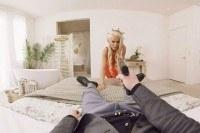 Приказал блондинке сосать член VR