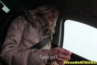 Трахнул 18 летнюю девку в машине